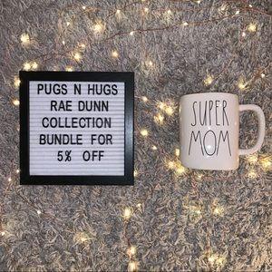 "Rae Dunn ""Super Mom"" Mug with Teal Color Interior"